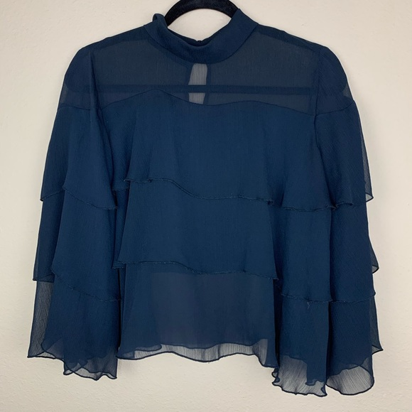 Zara Layered Navy Top